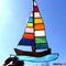 Segelschiff Tiffany Fensterbild