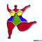 Fensterbild Nana (Niki de Saint Phalle) Tiffany