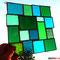 Sonnenfänger grüne Vielfalt Tiffany Fensterbild