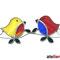 Vogel Paar Fensterbild Tiffany Hochzeit