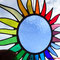 große bunte Sonne Tiffany Fensterbild Regenbogengroße bunte Sonne Tiffany Fensterbild Regenbogen