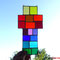 Tiffany Kreuz Bunte Vielfalt Fensterbild
