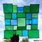 Sonnenfänger Tiffany modernes Fensterbild in grün