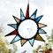 Sonne Tiffany Fensterbild Butzenscheibe