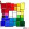 modernes Tiffany Fensterbild Bunte Vielfalt Regenbogen