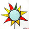 Gartenstecker kleine bunte Sonne / Blume aus Tiffany Glas