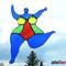 tanzende Nana, ein Tiffany Fensterbild, Glaskunst als Fensterdeko