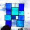 Sonnenfänger blau + türkis Tiffany Fensterbild