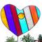 Gartenstecker Herz Tiffany