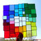 modernes Tiffany XXL Fensterbild Regenbogen