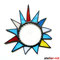 Bunte Sonne Tiffany Butzenglas