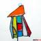 Hundertwasser Haus Tiffany Gartenstecker