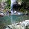 魚の繁殖域だった上流部の滝壺