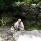 自宅から近い本明川の上流に、涼を求めて避難