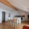 Esszimmer mit Küche - Wohnung 1 - Ferienhaus Traumblick