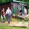 10.6.2012 Holzarbeiten - im Bild: Lainerhof Quartett