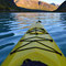 mit dem Kanu in Richtung Gletscher