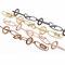Infility bracelets. Brass + mordorè, gold, rosegold, ruthenium, coating.