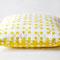 Kissen gelb 50 x 50 cm mit unsichtbarem Reißverschluss
