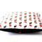 Kissen Vögelchen rot 40 x 40 cm mit roten Snaps auf der Rückseite