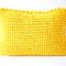 Strickkissen gelb 50 x 35 cm,  43 Euro