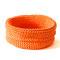 Häkelkorb orange, ca. ø 30 cm, H 12 cm umgeschlagen / 18 cm ausgezogen, verfügbar
