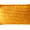 Strick-Filzkissen sonnengelb 52 x 35 cm, Filzstoff aus 100% Merino-Wolle 2 mm Dicke, 45 Euro