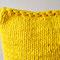 Strickkissen gelb 42 x 42 cm,  43 Euro