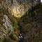 Die über 250m hohe Steilwand unterhalb der Rosstrappe...