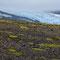 Pathless walking towards the Þórisdalur. A glacial tongue of the northwestern Þórisjökull in the distance.