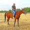 Trotz Angst vor diesen Tieren auf einem Pferd