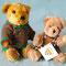 テディベア COLOUR BOXのBINKIE Canterbury Bearsのちょっと頭が扁平なくま