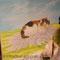 """""""Die Katze"""" mit Ölfarbe auf Leinwand 2014"""
