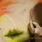 """MaskeFrau 2""...Öl auf drei Leinwände 2015"