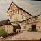 """"""" Fachwerkhaus in Sachsen """"... Acryl auf Leinwand 2012,  50 x 60 cm"""