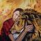 Kuscheln mit dem Löwen