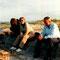 Auf einer Lapplandreise mit seiner Familie; von links: Anita, Margrit, H.U. Schwaar