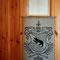 """Sommer 1981: Geschenk von H.U.Schwaar zur Einweihung des Blockhauses; Sackdruck mit Berner Wappen und dem Gedicht """"Das Haus am Saimaa"""""""