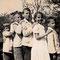 Geschwister Schwaar: Von links: Peter, Christian, Hansueli, Anni, ca. 1933