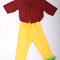 0032 Pantalones amarillos verdes grandes - medianos. Camisas vinotinto costa