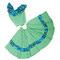 0037 Falda y blusa con estampado de flores. Pequeñas y medianas