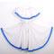 0049 Traje típico pacífico mediano. Falda y blusa. Incluye pañuelo blanco y flores