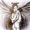 Hannes  -  Mit einem Flügelschlag verscheuchte der Engel die Feuer des Krieges