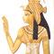 """Bühnenbild """"Horusmythos"""" (3 x 4 m, Detail: die Göttin Isis) - Auftragsarbeit"""