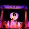 """Szenenbild Gala Oriental mit Bühnenbild """"Schleier der Isis"""" (geflügelte Göttin: 5 x 3 m, Sonnenscheibe: 1,5 x 9 m) - im Fundus, Foto: André Elbing"""