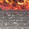 Tappeto mobile combustione cippato - zona esaurimento combustione. Teleriscaldamento di Fondo (TN)