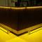 Bartresen Front Fichte gebeizt und lackiert, Tresenplatte mit Schichtstoff und LED-Beleuchtung