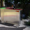 Bartresen Front Alu – Blech genietet, Tresenplatte mit Schichtstoff belegt