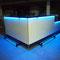 Bartresen Front, Tresen- und Arbeitsplatte mit Schichtstoff, LED-Beleuchtung in der Tresenplatte