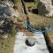 2015 Wasser-Strom-Leitung für hinteren Teich